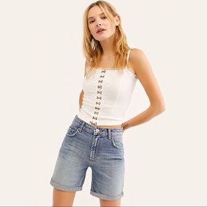 Free People Ivy Long Shorts